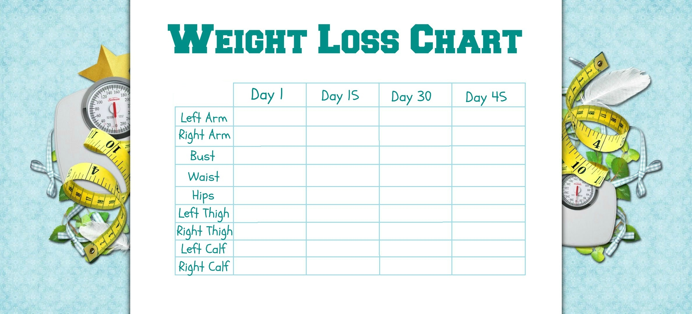 Weight Loss Progress Charts